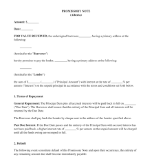 Free Printable Iou Forms Promissory Note Sample Template Word Pdf