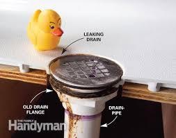 old leaky drain