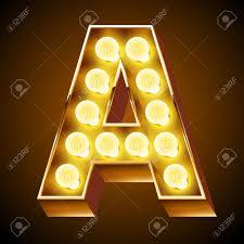Letter Light Board Old Lamp Alphabet For Light Board Letter A
