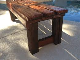 4x4 Wood Crafts Diy Bench For Kitchen Nook Reused 4x4 For Legs 2x6 2x4 Top For