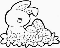 Easter Bunny Coloring Pages For Toddlers Happy Easter
