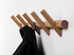 wall mounted wooden coat rack meter wall mounted coat rack by pikka