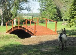 24 x 8 foot red cedar tractor bridge