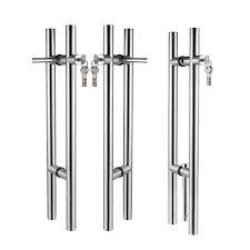 glass door stainless steel locking pull handle