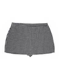 Boohoo Plus Size Chart Details About Boohoo Boutique Women Black Skort 18 Plus