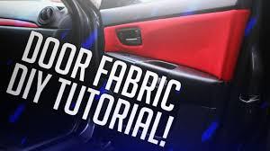 how to diy door panel fabric inserts