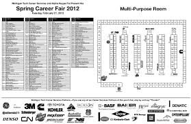 Spring 2012 Career Fair Map