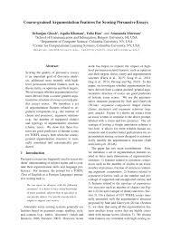 Pdf Coarse Grained Argumentation Features For Scoring Persuasive Essays
