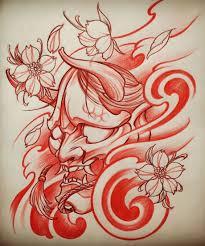эскизы масок хання значение татуировки с маской хання Japanese