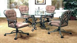 rolling dining chairs. Dining Table With Caster Chairs Rolling Room Sets On Casters U