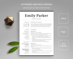 Professional Resume Template Cv Template Word Modern Resume Ats Friendly Resume Template Pages Resume Curriculum Vitae Free