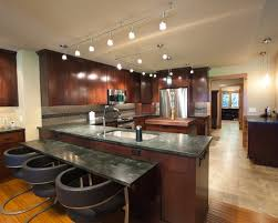 Incredible Overhead Track Lighting Modern Designed Kitchen With