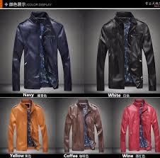 men s leather jacket and coats epaulettes modify motorcycle slim fit jacket plus size m 5xl p106