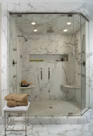 spa bathroom with marble shower
