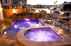swimming pool lighting options. This Appealing Outdoor Living Space Uses A Multitude Of Lighting Options. The Pool And Spa Swimming Options