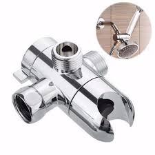 Mayitr 3 Way Duschkopf Halter Wasserspar Diverter Silber Poliert Chrom Wand Duschventil Fix Halterung Für Badezimmer