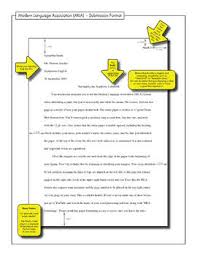 Mla Paper Formatting Free Handout To Model M L A Front Page Submission Format