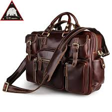 anaph full grain leather briefcases men classic messenger bags 16 inch laptop briefcase large business travel bag in wine brief case mens leather bags