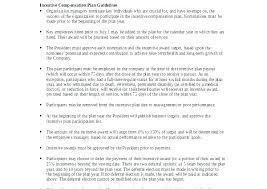 Employee Incentive Plan Template Employment Proposal