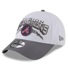 men s atlanta braves new era white 2018 nl east division chions 9forty adjule hat