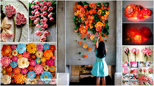 incredible paper flowers art on wall decoration art and craft with 40 ways to decorate your home with paper crafts