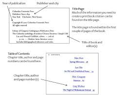 Bibliography Format For Books Apa Citation Style How To Format A Chapter Citation