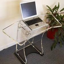 clear office desk. Modern Clear Office Computer Glass Desk