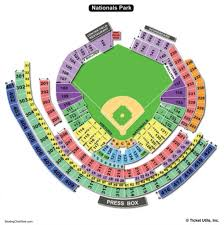 Washington Nationals Seating Chart Detailed Nationals Seating Chart Seating Chart