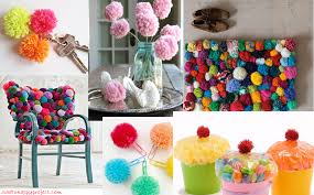31 cute and easy diy pom pom decoration ideas in your budget sad to happy project