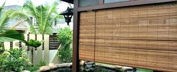 roll up bamboo blinds outdoor blind ideas roll up bamboo blinds shades intended artistic 4 outdoor
