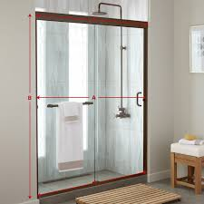 knowing the amount of space that you must work with is important before you begin ping because not all shower doors