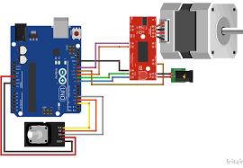 nema stepper motor control arduino and rotary encoder schematic nema easy driver arduino tutorial