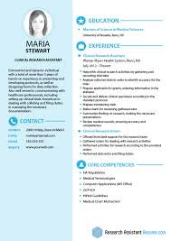 Research Resume Samples Clinical Research Assistant Resume Sample Visual Ly