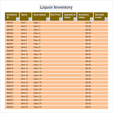Sample Inventory Spreadsheet Template 8 Free Documents Download
