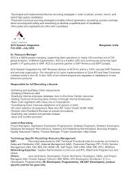 Technical Recruiter Resume