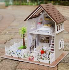 Aliexpress Buy Home Decoration Crafts DIY Doll House Wooden
