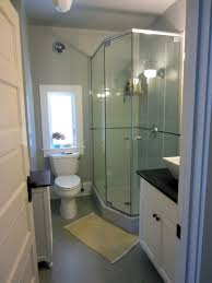 bathroom renovations pale gray walls glass shower cabin white toilet and cupboards bathrooms without tiles 50 alternative design ideas bath