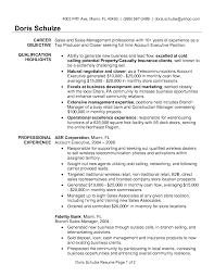 Account Manager Resume Objective Template Design