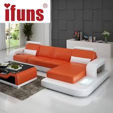 IFUNS Unique Leather Sofa Living Room Sofa Set Modern design recliner  corner sectional sofa top grain italian real leather (fr)-in Living Room  Sofas from ...