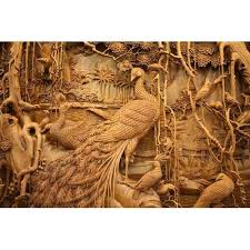 wooden decorative carved teak wood wall