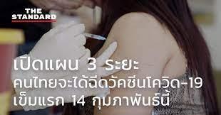 ชมคลิป: เปิดแผน 3 ระยะ คนไทยจะได้ฉีดวัคซีนโควิด-19 เข็มแรก 14 กุมภาพันธ์นี้  – THE STANDARD