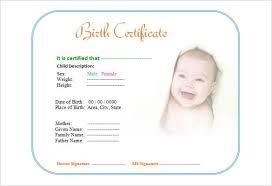 Cute Baby Birth Certificate Template Editable Free Printable