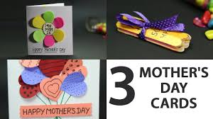 easy cute mother s day card gift ideas for kids from popsicle sticks and paper sheet