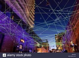 Optic Arts Lighting Green Fiber Optic Cables For Art Installation At Toronto