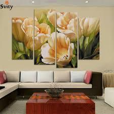 Oil Paintings For Living Room Popular Oil Paintings Tulips Buy Cheap Oil Paintings Tulips Lots