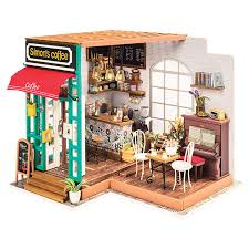 Последние твиты от kits&coffee (@kitsandcoffee). Diy Miniature Model Kit Simon S Coffee Shop Fat Brain Toys