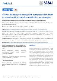 PDF) Graves` Disease presenting with complete heart block in a South  African lady from Mthatha: A case report