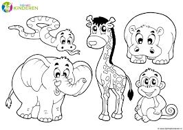 Jungle Dieren Kleurplaat Kleurplaat Voor Kinderen