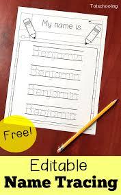Editable Name Tracing Sheet   Totschooling - Toddler, Preschool ...