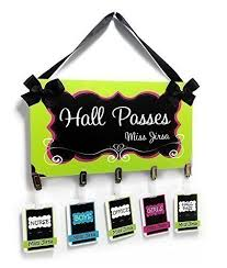 Hall Passes For School Amazon Com Classroom Hall Passes Teacher Elegant Lime Green And